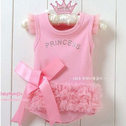 PRETTY PINK LARGE BOW PRINCESS RUFFLE ROMPER